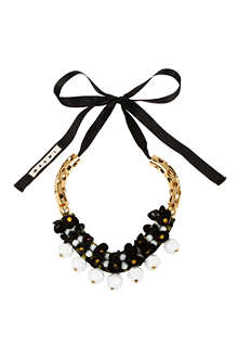 MARNI EDITION Perforated tubes embellished necklace