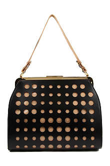 MARNI EDITION Perforated patent shoulder bag