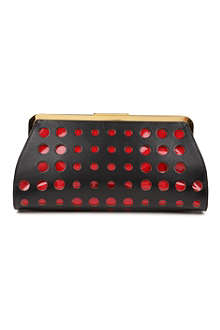 MARNI EDITION Perforated patent clutch