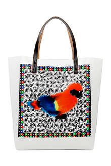 MARNI EDITION Parrot Stripe shopper