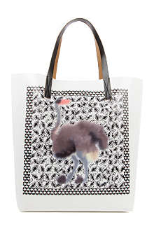 MARNI EDITION Ostrich Square shopper