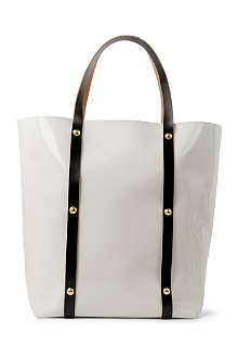 MARNI EDITION Patent studded shopper
