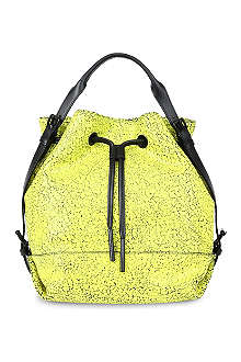 OPENING CEREMONY Izzy crackle-leather backpack