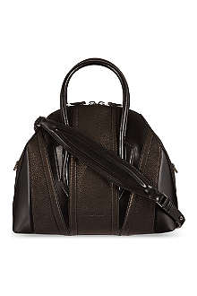 HELMUT LANG Grained leather bowling bag