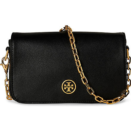 TORY BURCH Robinson Saffiano mini bag (Black