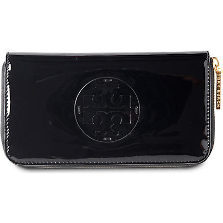 TORY BURCH Patent leather wallet (Black