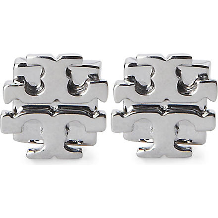 TORY BURCH Large 'T' stud earrings (Silver