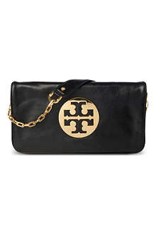 TORY BURCH Reva leather clutch