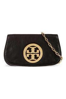 TORY BURCH Logo clutch with chain