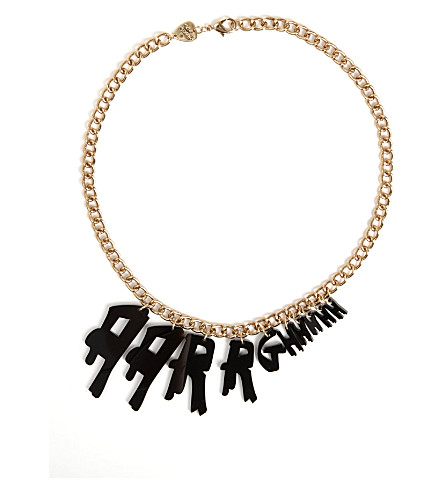 TATTY DEVINE Aarrghhhh necklace (Black