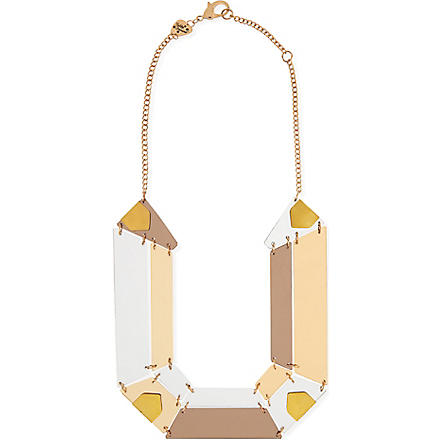 TATTY DEVINE Jewel cut statement perspex necklace (Gold