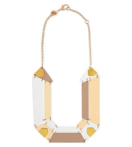 TATTY DEVINE Jewel cut statement perspex necklace (Gold