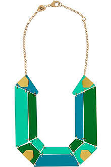 TATTY DEVINE Jewel cut statement perspex necklace