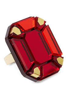 TATTY DEVINE Gem cut perspex ring