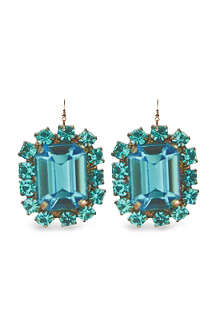 TATTY DEVINE Jewel print perspex earrings