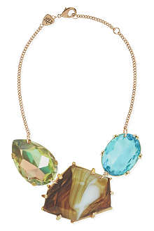 TATTY DEVINE Jewel print triple perspex necklace