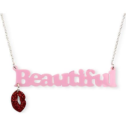 TATTY DEVINE Beautiful Lips necklace (Pink