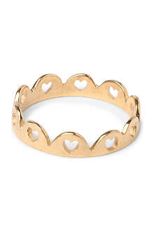 TATTY DEVINE Crown of Hearts 18ct gold-plated ring