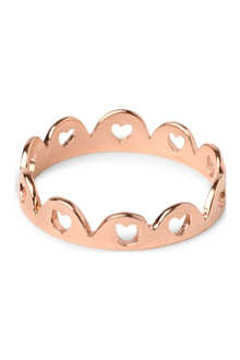 TATTY DEVINE Crown of Hearts 18-carat rose gold-plated ring