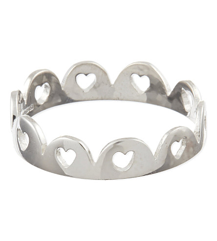 TATTY DEVINE Crown of Hearts ring (Silver