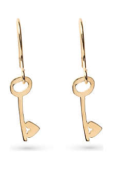 TATTY DEVINE Keep It Safe Key earrings