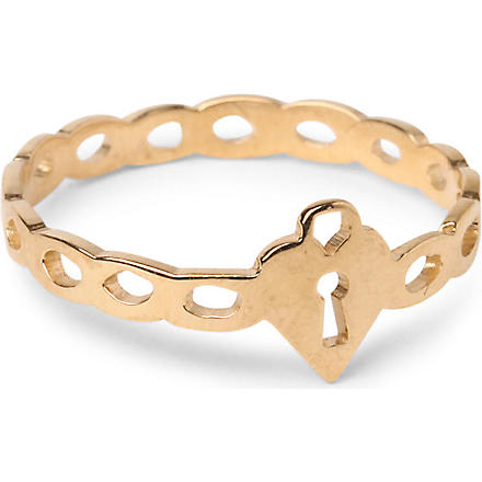 TATTY DEVINE Keep It Safe ring (Gold