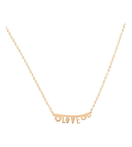 TATTY DEVINE Small Piece of love 18ct gold-plated necklace (Gold