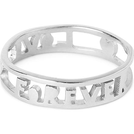 TATTY DEVINE Forever Love ring (Silver