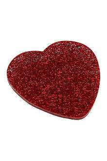 TATTY DEVINE Glitter heart brooch