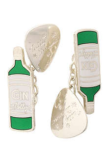 TATTY DEVINE Gilbert & George Gin cufflinks