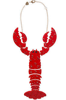 TATTY DEVINE Giant lobster perspex necklace