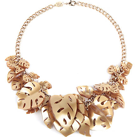 TATTY DEVINE Hot house leaves necklace (Gold
