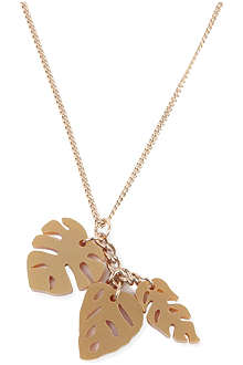 TATTY DEVINE Hot house leaves triple necklace