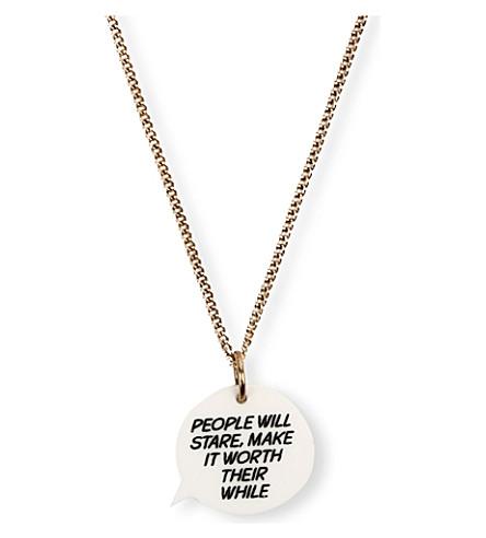 TATTY DEVINE People Will Stare necklace (Multi