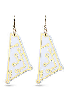 TATTY DEVINE Future circuit earrings