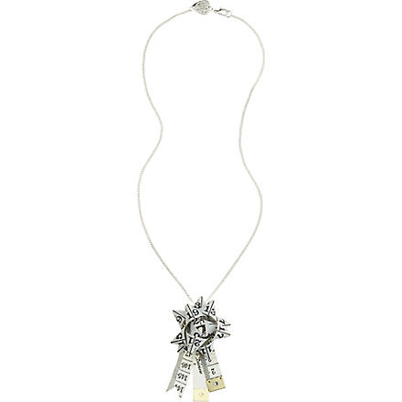 TATTY DEVINE Tape Measure Rosette necklace (White