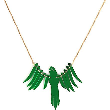 TATTY DEVINE Parakeet necklace (Emerald