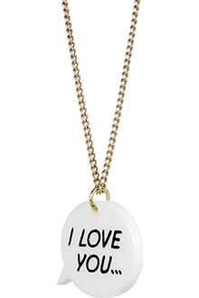 TATTY DEVINE I Love You necklace