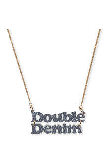 TATTY DEVINE Exclusive Double Denim necklace