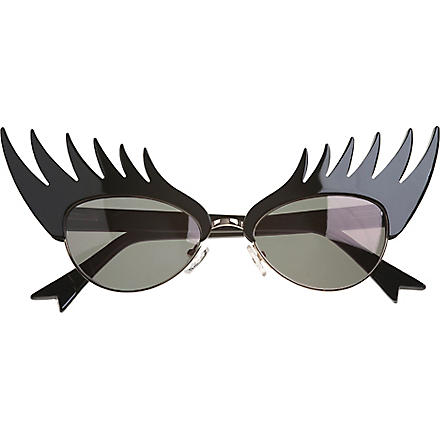 TATTY DEVINE Eyelash round-frame sunglasses (Silver
