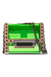 DIANE VON FURSTENBERG Studded PVC cross-body bag