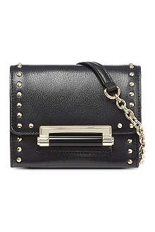 DIANE VON FURSTENBERG Micro mini studded leather cross-body bag