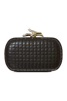 DIANE VON FURSTENBERG Lytton leather clutch
