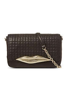 DIANE VON FURSTENBERG Lips quilted leather cross-body bag