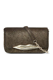 DIANE VON FURSTENBERG Diamond Dust leather cross-body bag