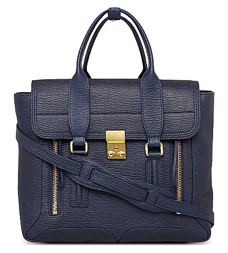 3.1 PHILLIP LIM Pashli leather satchel (Ink