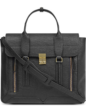 3.1 PHILLIP LIM Textured leather satchel