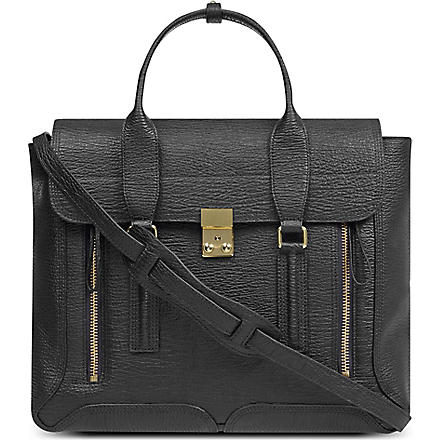 3.1 PHILLIP LIM Textured leather satchel (Black