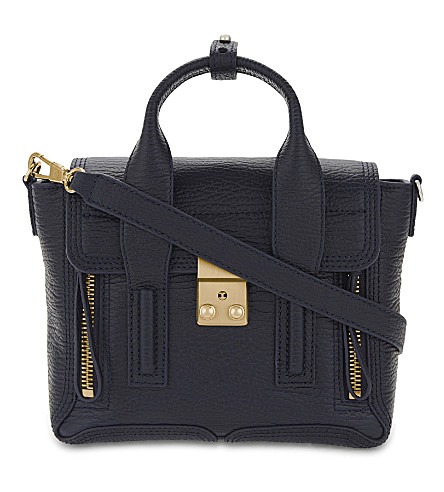 3.1 PHILLIP LIM Pashli mini leather satchel (Ink
