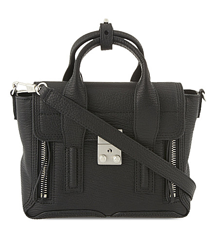 3.1 PHILLIP LIM Pashli mini leather satchel (Blk-nickel